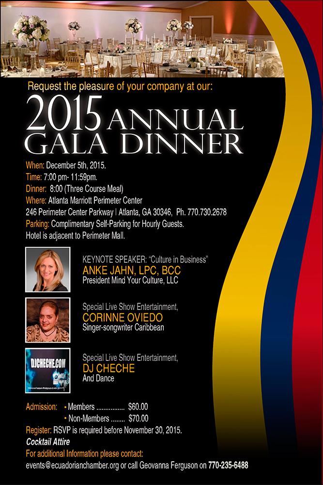 annual gala dinner 2015